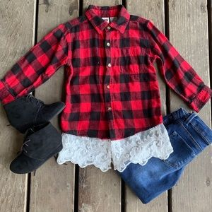 Flannel with added Lace